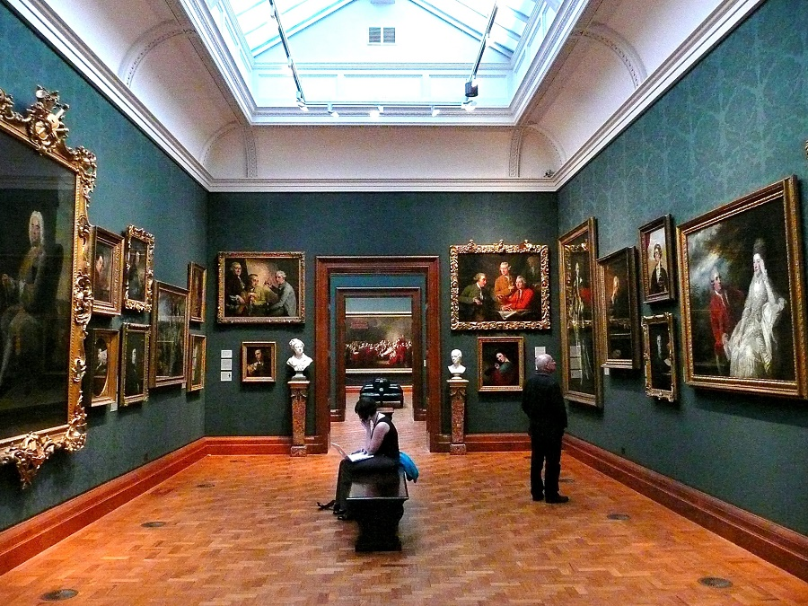 Interior da National Gallery em Londres