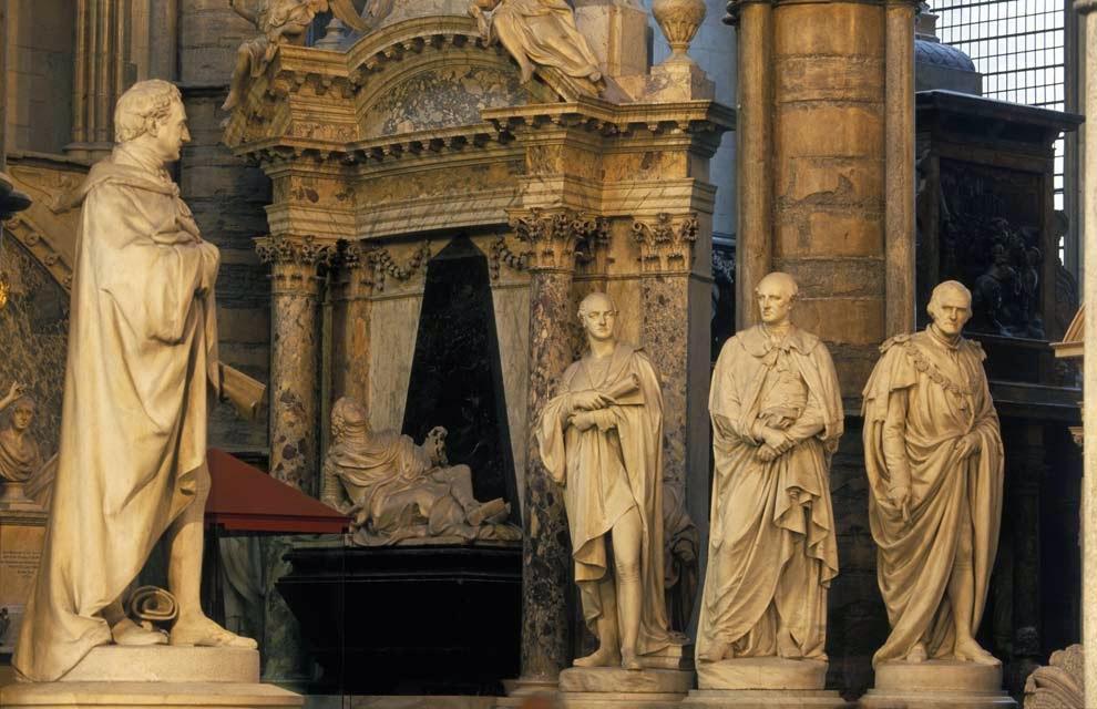 Interior da Abadia de Westminster em Londres