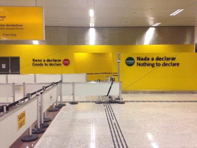 Declaração do imposto no aeroporto