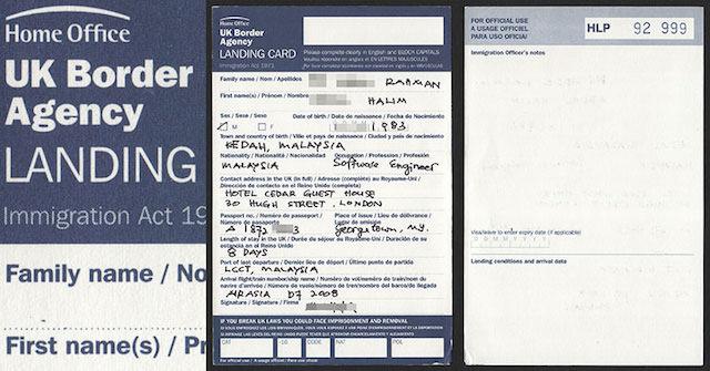 Exemplo de Landing Card em Londres