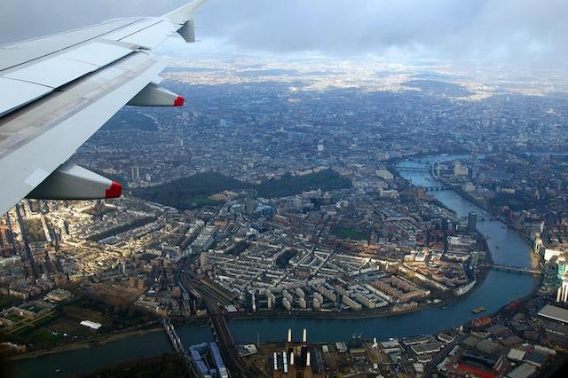 Vista de Londres desde o avião