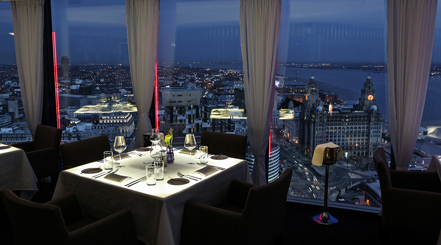 Restaurante Panoramic 34 em Liverpool