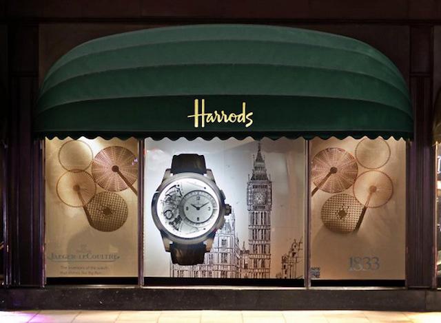Relógios na Harrods em Londres