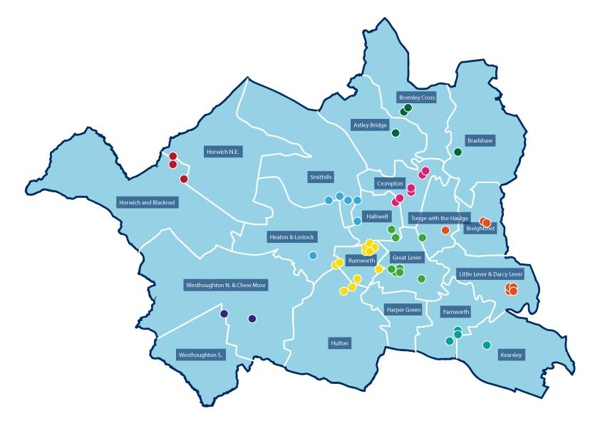 Onde ficar em Manchester: mapa
