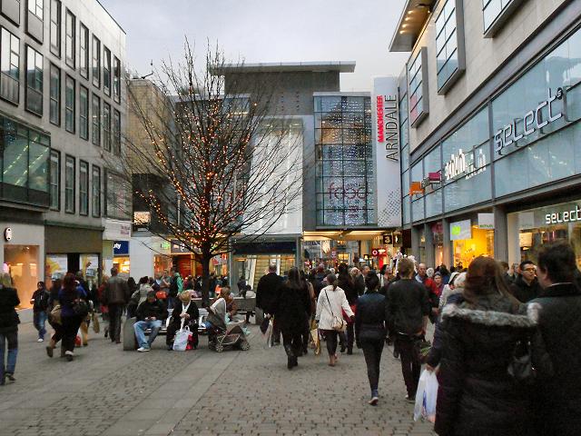 Compras em Manchester, Inglaterra