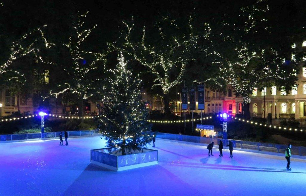 Patinação no gelo em Londres