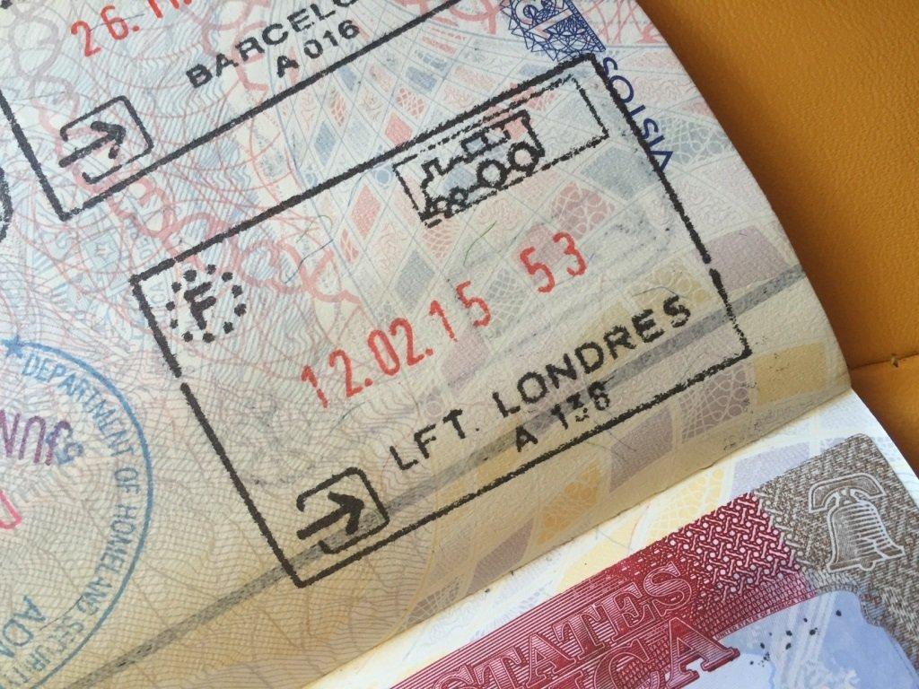 Passaportes e vistos em Londres