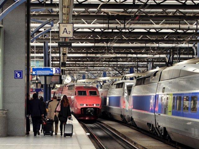 Viagem de trem de Londres a Bruxelas