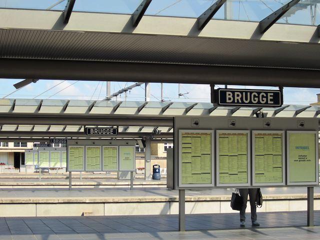 Estação de trem em Brugge