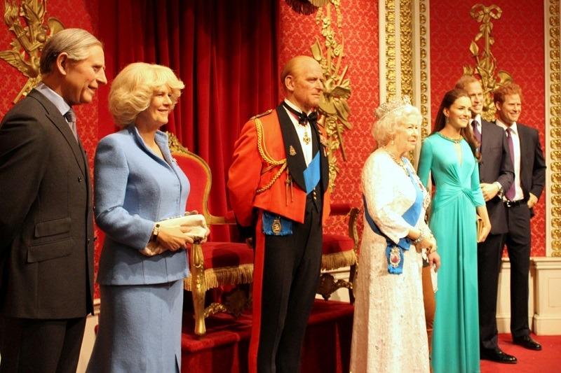 Família Real no Madame Tussauds em Londres