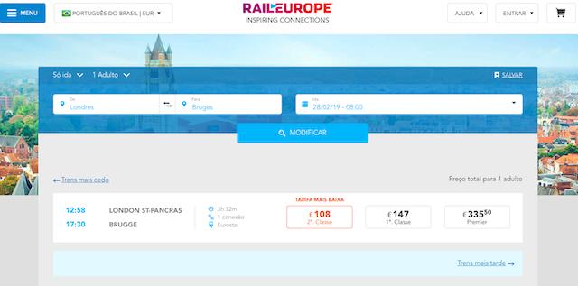 Onde comprar passagens de trem na Europa: Londres a Bruges